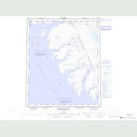 Canadian Topo Map - Abraham Bay - Map 026H