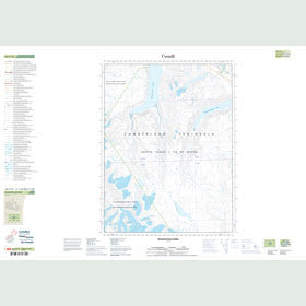 Canadian Topo Map - Maujatuuq Fiord - Map 026P10