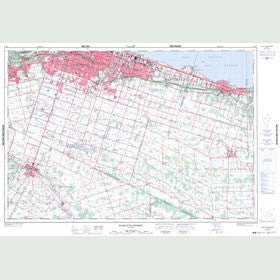Canadian Topo Map - Stoney Creek - Map 030M04