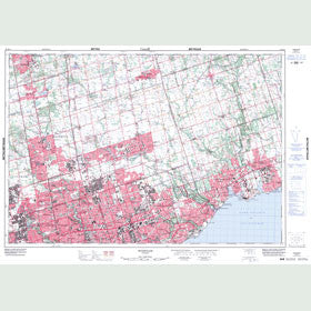 Canadian Topo Map - Markham - Map 030M14