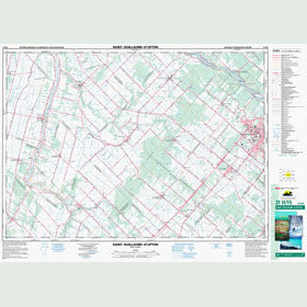Canadian Topo Map - Saint-Guillaume-d'Upton - Map 031H15