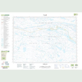 Canadian Topo Map - Grinnell Lake - Map 047C09