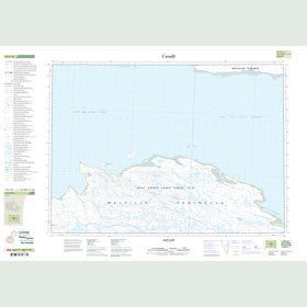 Canadian Topo Map - East Cape - Map 047C16