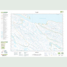 Canadian Topo Map - Quilliam Bay - Map 047D12