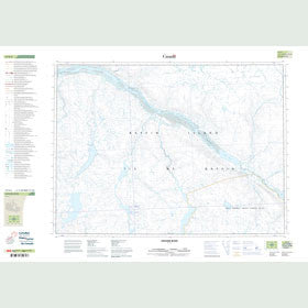 Canadian Topo Map - Gifford River - Map 047E05