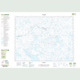 Canadian Topo Map - Taser Lake - Map 047E15