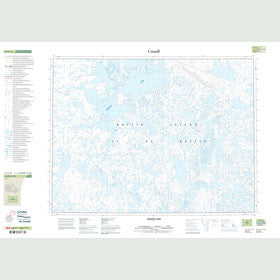 Canadian Topo Map - Quartz Lake - Map 047E16
