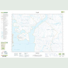 Canadian Topo Map - Nyeboe Fiord - Map 047F06
