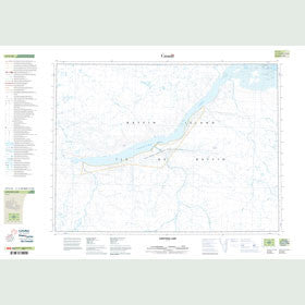 Canadian Topo Map - Saputing Lake - Map 047F10