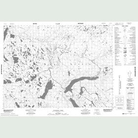 Canadian Topo Map - Ivisarak Lake - Map 047F11