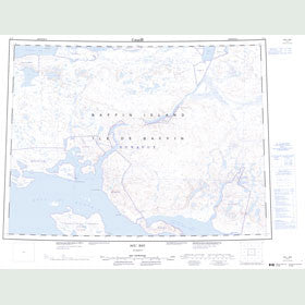 Canadian Topo Map - Agu Bay - Map 047F