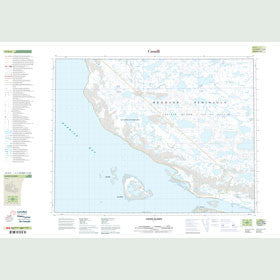 Canadian Topo Map - Lavoie Islands - Map 047G04