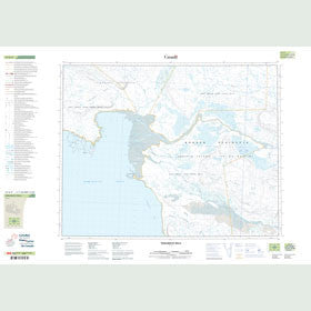 Canadian Topo Map - Tadlukotit Hills - Map 047G09