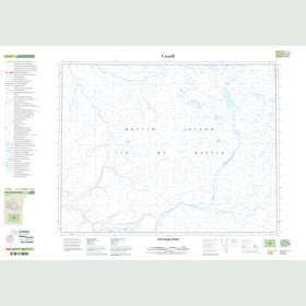 Canadian Topo Map - East Magda River - Map 047H07