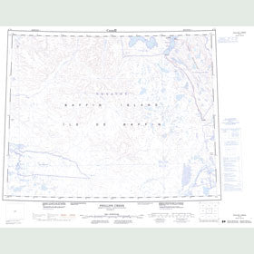Canadian Topo Map - Phillips Creek - Map 047H