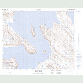 Canadian Topo Map - Bruce Head - Map 048A01
