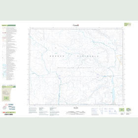 Canadian Topo Map - Muckpa Mountain - Map 048A03