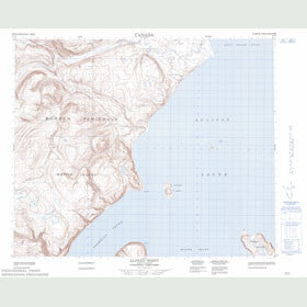 Canadian Topo Map - Alfred Point - Map 048A09