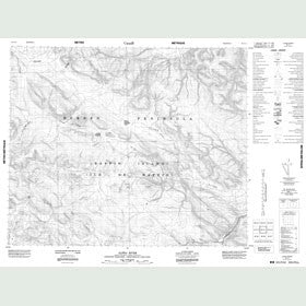 Canadian Topo Map - Alpha River - Map 048A11