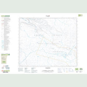 Canadian Topo Map - Fleming River - Map 048A12