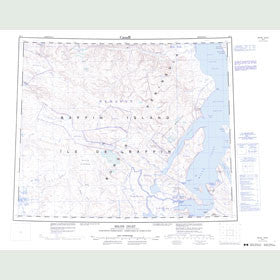 Canadian Topo Map - Milne Inlet - Map 048A