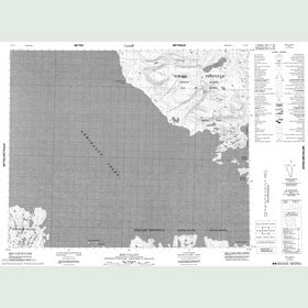 Canadian Topo Map - Red Valley - Map 048B07