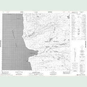 Canadian Topo Map - Levasseur Inlet - Map 048B10