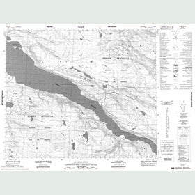 Canadian Topo Map - Adams Sound - Map 048B16