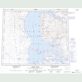 Canadian Topo Map - Moffet Inlet - Map 048B
