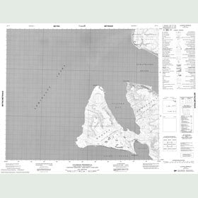 Canadian Topo Map - Uluksan Peninsula - Map 048C02