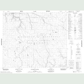 Canadian Topo Map - St. Joseph Plateau - Map 048C04