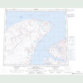Canadian Topo Map - Arctic Bay - Map 048C