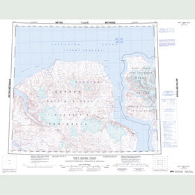 Canadian Topo Map - Navy Board Inlet - Map 048D