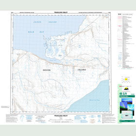 Canadian Topo Map - Truelove Inlet - Map 048G09