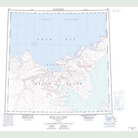 Canadian Topo Map - Bear Bay East - Map 048G