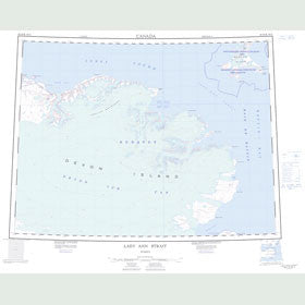 Canadian Topo Map - Lady Ann Strait - Map 048H