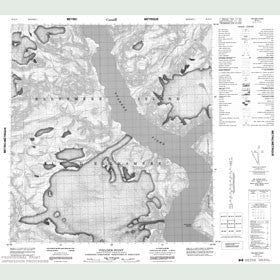 Canadian Topo Map - Fielder Point - Map 049A11