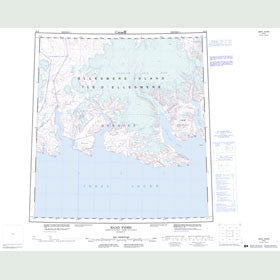 Canadian Topo Map - Baad Fiord - Map 049B
