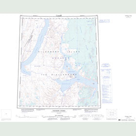 Canadian Topo Map - Vendom Fiord - Map 049D