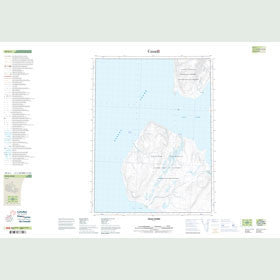 Canadian Topo Map - Vesle Fiord - Map 049G01