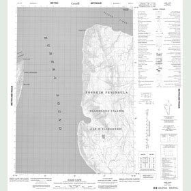 Canadian Topo Map - Hare Cape - Map 049G14