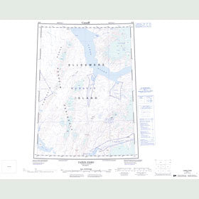 Canadian Topo Map - Cañon Fiord - Map 049H