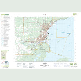 Canadian Topo Map - Thunder Bay - Map 052A06