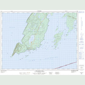 Canadian Topo Map - Thunder Cape - Map 052A07