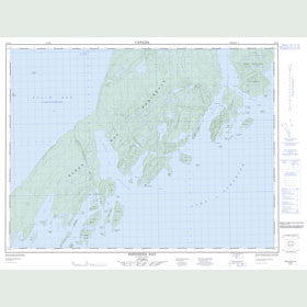 Canadian Topo Map - Shesheeb Bay - Map 052A09