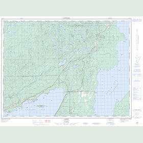 Canadian Topo Map - Loon - Map 052A10