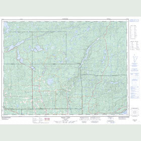 Canadian Topo Map - Onion Lake - Map 052A11