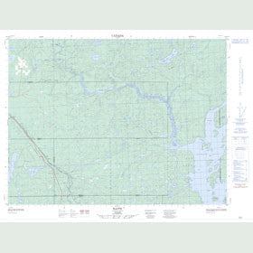 Canadian Topo Map - Raith - Map 052A13