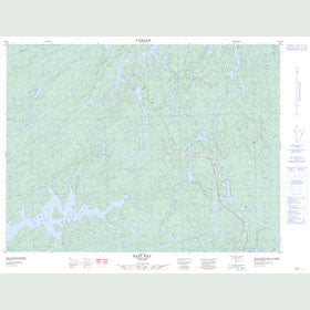 Canadian Topo Map - East Bay - Map 052A14
