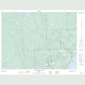 Canadian Topo Map - Greenwich Lake - Map 052A15